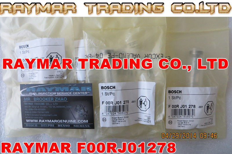 Common rail injector valve F00RJ01278 for 0445120054, 0445120057, 0445120075