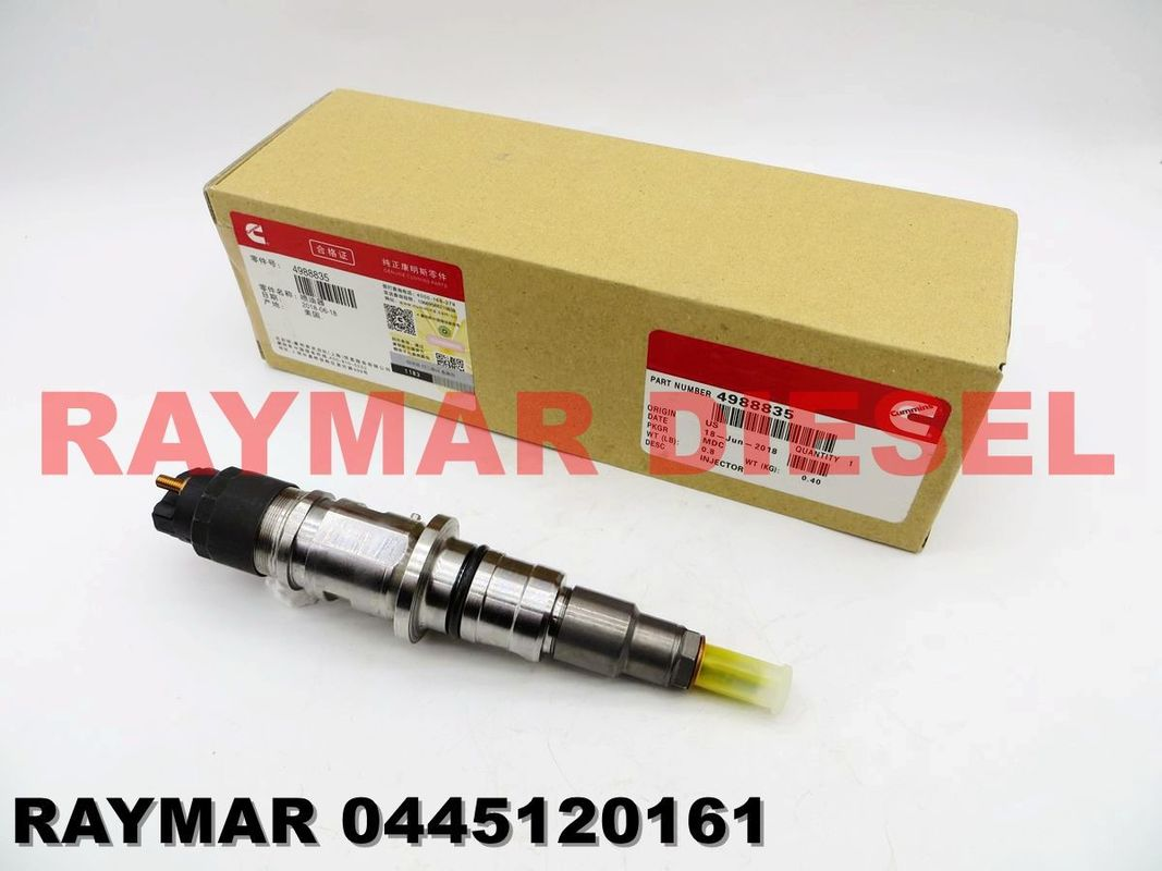 BOSCH Genuine common rail injector 0445120161, 0445120204, 0445120267 for CUMMINS ISDE 4988835, 5253221, 5269194